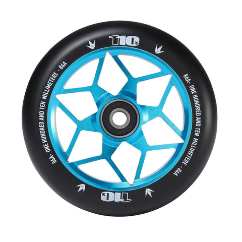 Envy Diamond Scooter Wheel 110mm - Teal (Pair)