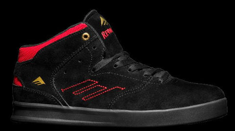 Emerica Shoes Reynolds- black/black/red