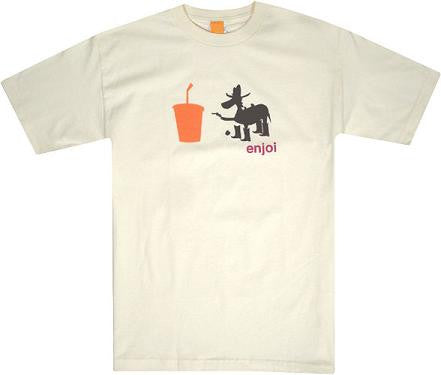 Enjoi Tee Soda Pop - Cream