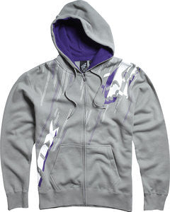 Fox Hoodie Metric Zip- grey