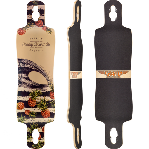 "Gravity Double Drop 38"" Pineapple Express Deck"