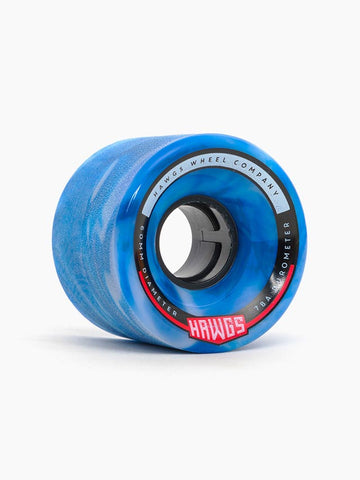 Hawgs Chubby Wheels 60mm 78a - Blue/White (Set of 4)