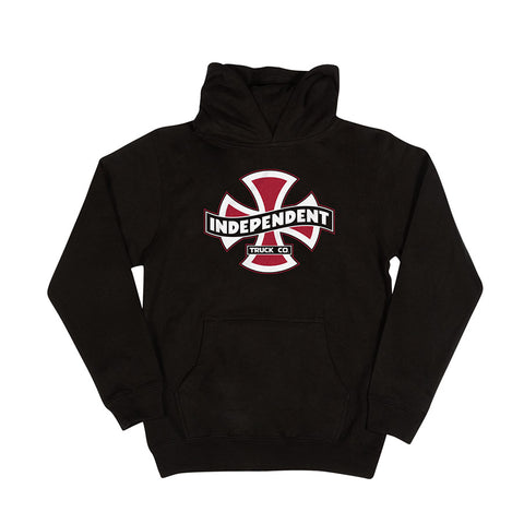 Independent Streamer Pullover Hooded Youth Sweatshirt - Black
