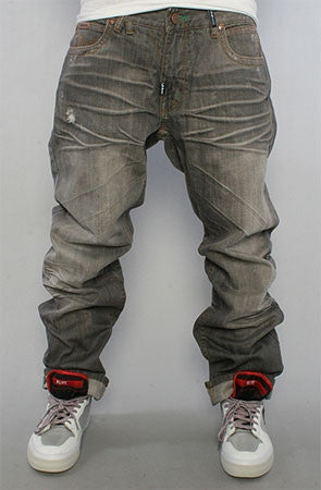 LRG Jeans Gold Rush True Straight Fit-  dirty gray