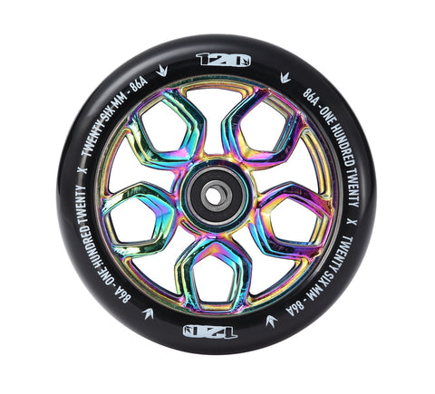Envy Scooter Wheel Lambo 120mm -  Oil Slick/Black (Pair)