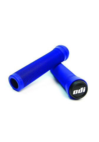 ODI Longneck Soft Flangeless Grips - Bright Blue
