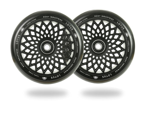Root Industries 120mm Lotus Wheels - Black (Pair)