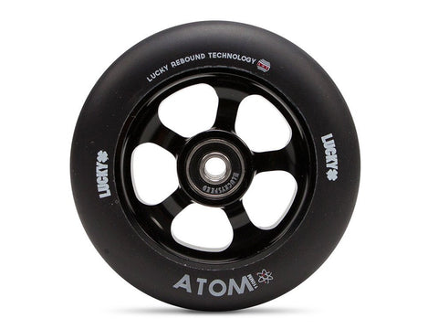 Lucky Scooter Wheel 2016 Atom 110mm - Black/Black (Pair)