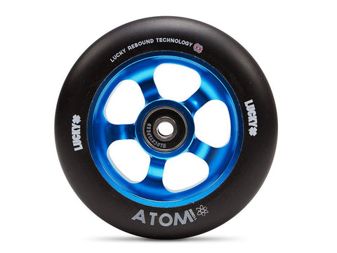 Lucky Scooter Wheel 2016 Atom 110mm - Blue/Black (Pair)