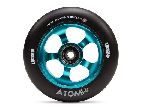 Lucky Scooter Wheel 2016 Atom 110mm - Teal/Black (Pair)