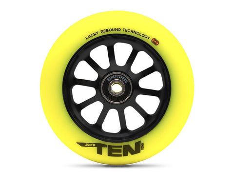 Lucky Scooter Wheel 2016 TEN 120mm - Black/Hi-Liter Yellow