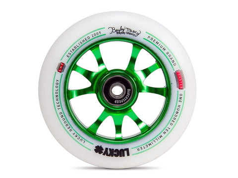 Lucky Scooter Wheel 2016 TOASTER 110mm - Forest Green/White (Pair)