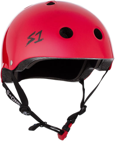 S1 Mini Lifer Helmet - Bright Red Gloss