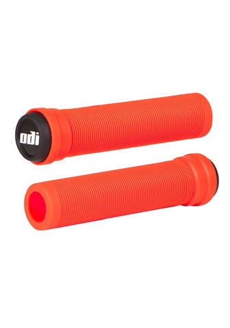 ODI Longneck Soft Flangeless Grips - Fire Red