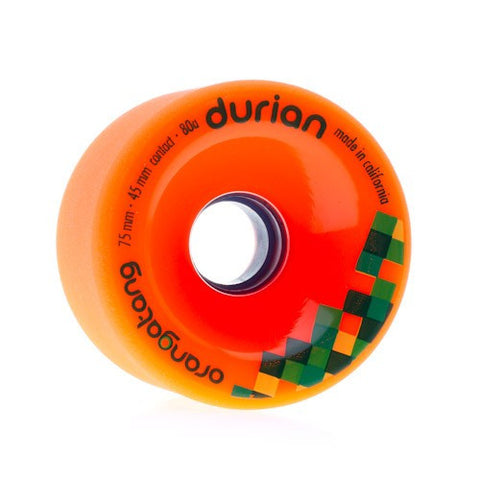 Orangatang Durian 75mm 80a orange Longboard Wheels (Set of 4)