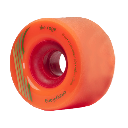 Orangatang The Cage 73mm 80a orange Longboard Wheels (Set of 4)
