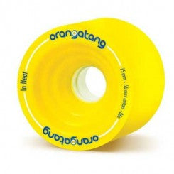 Orangatang In Heat 75mm 86a Yellow Longboard Wheels (Set of 4)