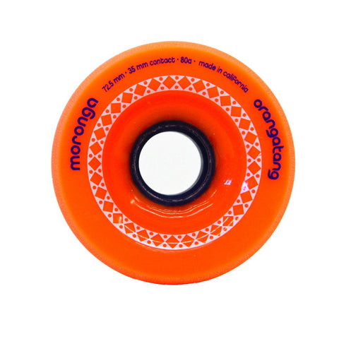 Orangatang Moronga 72.5mm 80a orange Longboard Wheels (Set of 4)