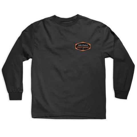 Lakai Paint Long Sleeve Tee - Black