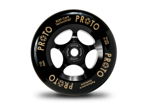 Proto Grippers Wheels 110mm - Black on Black (Pair)