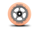 Proto Faded Gripper Wheels 110mm - Pastel Orange on Ghost Grey (Pair)