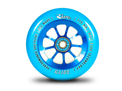 River Wheels Sapphire Glide 110mm - Blue On Blue (Pair)