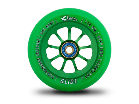 River Wheels Emerald Glides 110mm - Green (Pair)