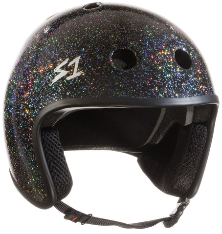 S1 Retro Lifer Helmet - Black Gloss Glitter