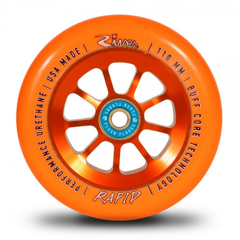 River Wheels Sunset Rapids 110mm - Orange on Orange (Pair)