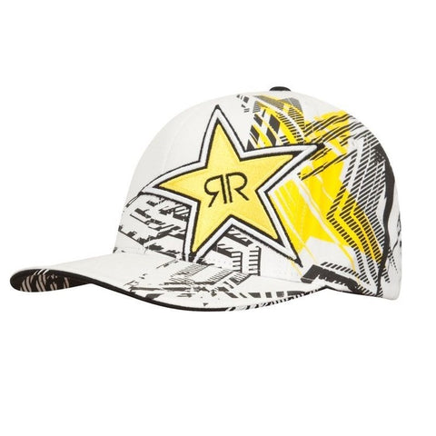 Rockstar Hat Showcase Flexfit- white