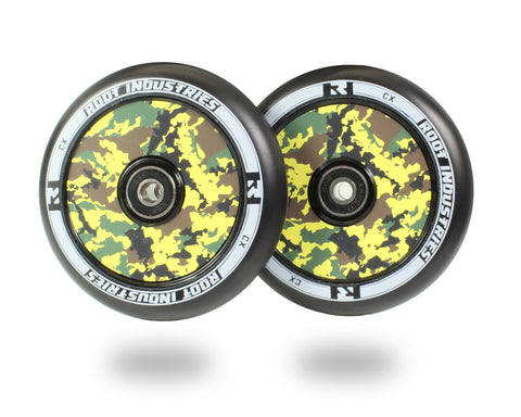 Root Industries AIR Wheels 110mm - Black/Camo (Pair)