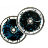 Root Industries 110mm AIR Wheels - Black/Blue Splatter (Pair)