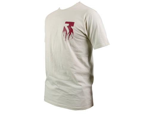 Root Industries T-Shirt Rooted - Sand & Burgundy