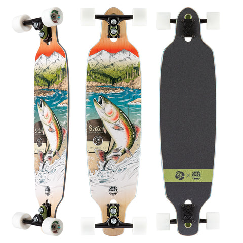 Sector 9 Tackle Fractal Complete Longboard - 9.0""