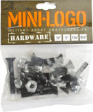 "Mini Logo Hardware 1"" Phillips - Black"