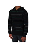 Volcom Hooded Hacker Long Sleeve- black