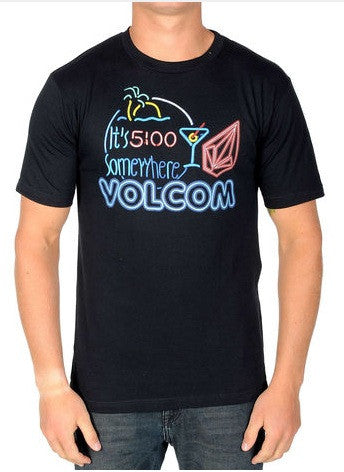 Volcom Tee Five Oclock Somewhere- black