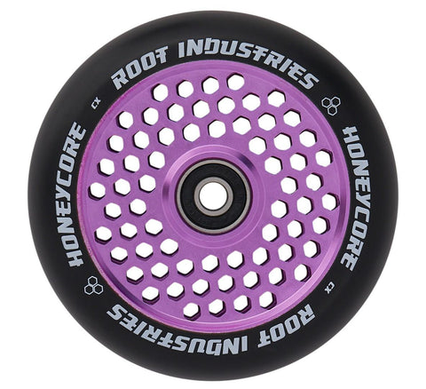 Root Industries 110mm HoneyCore Wheels - Black/Purple (Pair)