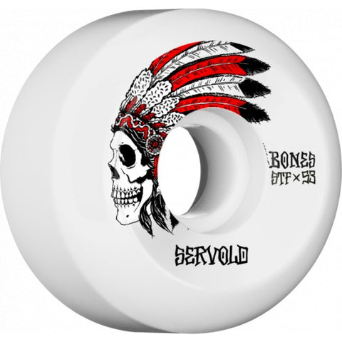 Bones STF Servold Spirit 53mm Wheels - White (Set of 4)