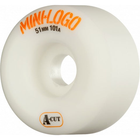 Mini Logo Wheels A-Cut 51mm 101a - White (Set of 4)