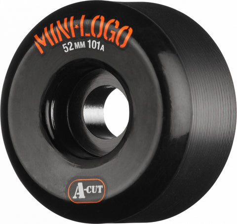 Mini Logo Wheels A-Cut 52mm 101a - Black (Set of 4)