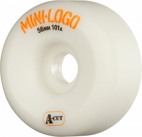 Mini Logo Wheels A-Cut 56mm 101a - White (Set of 4)