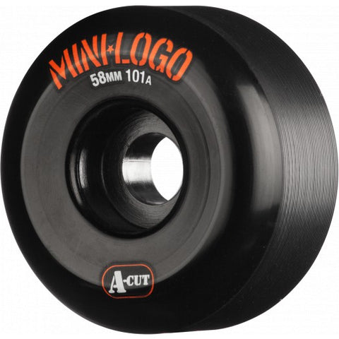 Mini Logo Wheels A-Cut 58mm 101a - Black (Set of 4)