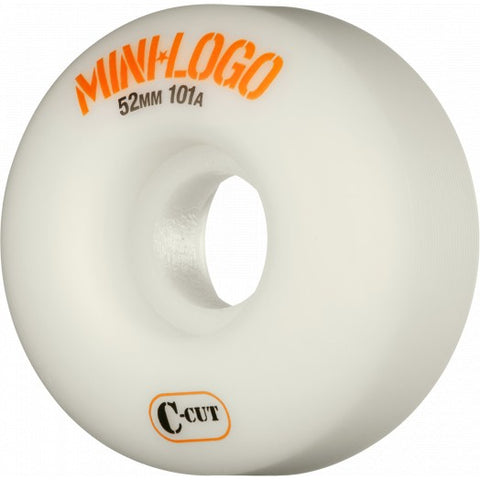 Mini Logo Wheels C-Cut 52mm 101a - White (Set of 4)