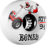 Bones ATF Seg Cross 54mm Wheels - White (Set of 4)
