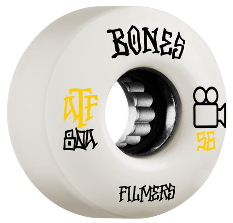 Bones ATF Filmers 56mm 80a Wheels - White (Set of 4)