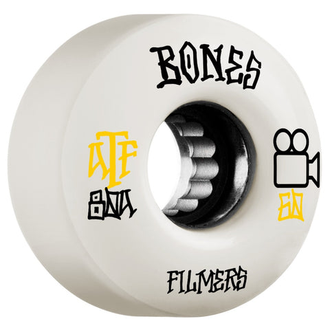 Bones ATF Filmers 60mm 80a Wheels - White (Set of 4)