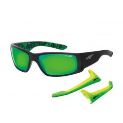 Arnette Sunglasses Unreal - Fuzzy Black/Green - Skates USA