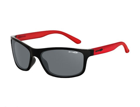 Arnette Sunglasses Pipe - Gloss Black/Gummy Cherry - Skates USA