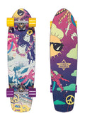 "Dusters Lucy Cruiser Complete Skateboard 31"" - Yellow / Purple"